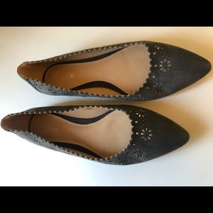 Joe's Jeans Minka Cut-out Flats- Dark grey